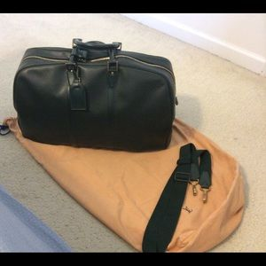 LV Green Taiga Leather Kendall 55 Weekender Bag